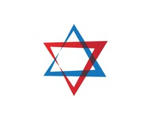 Star David Template Vector Icon
