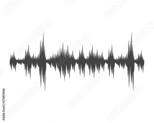 Sound waves vector illustration Wallpaper Mural