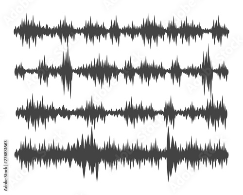 Photo Sound waves vector illustration