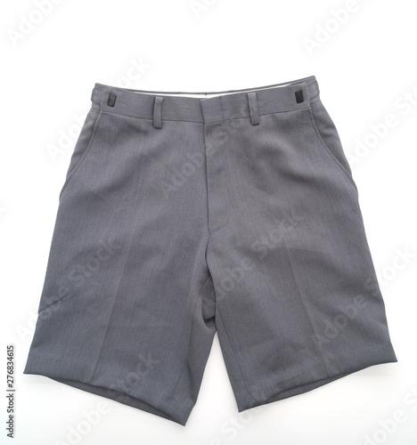 Valokuvatapetti short pants on white background