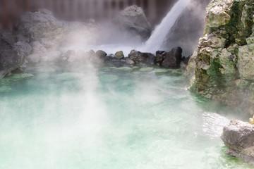 草津温泉 幻想的な湯畑