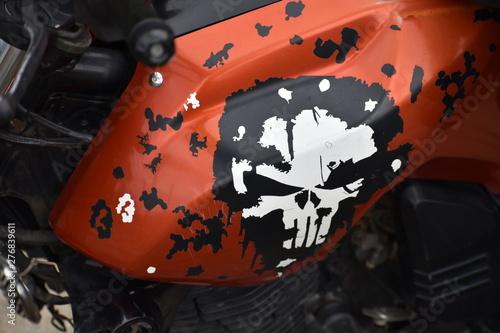 wheel of motorcycle Tablou Canvas