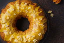 Pumpkin Bundt Cake Topped With...