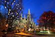 The Christmas market in front of the Rathaus (City hall) of Vienna, Austria