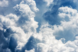 Fototapeta Na sufit - Detail of white clouds in the sky - Cumulonimbus