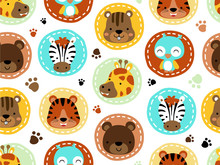 Seamless Pattern With Animals ...