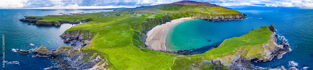 Fototapety, obrazy: Aerial view of the beautiful coast at Malin Beg in County Donegal, Ireland