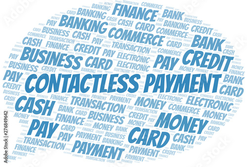 Contactless Payment word cloud  Vector made with text only