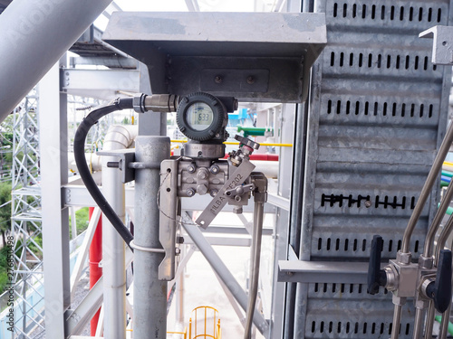 Pressure transmitter for apply  in industry zone at Combined-Cycle Co-Generation Power Plant Fototapet