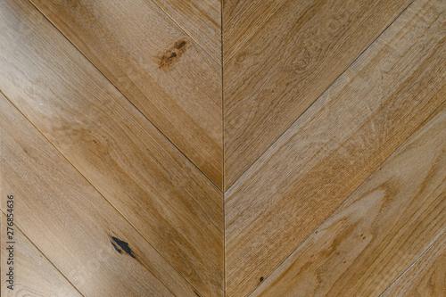 Fototapeta Chevron natural parquet seamless floor texture. background  obraz na płótnie