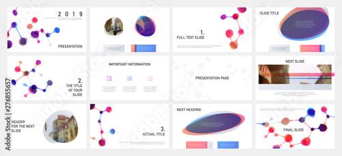 Fotografia, Obraz  Presentation template design