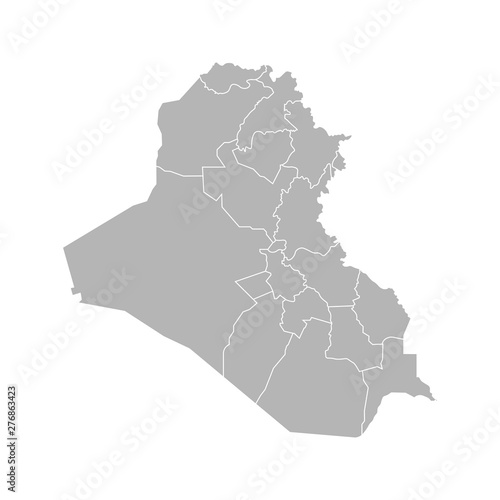 Fényképezés Vector isolated illustration of simplified administrative map of Iraq