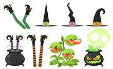 Collection Of Cartoon Witch Le...