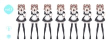 Anime Manga Girl. Costume Of Maid Cafe