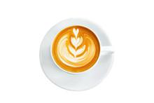 Aerial View Of Coffee Latte Cu...