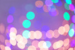 canvas print picture - Blurred view of colorful lights