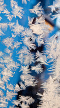 Christmas Background, Art Of Frost On Windows
