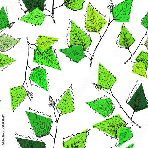 wzor-lisci-brzozy-recznie-rysowane-zielone-galezie-brzozy-liscie-brzozy-szkic-styl-wektor-bezszwowe-tlo