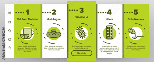 Photo  Influenza Linear Vector Icons Onboarding Mobile App Page Screen