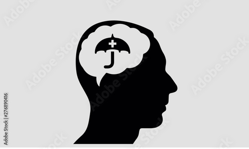 Fototapety, obrazy: idea concept in the human brain medical icon