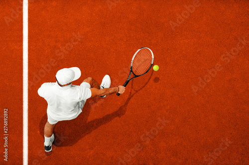 Poster Ouest sauvage Man playing tennis