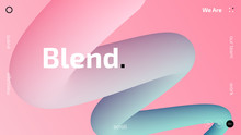 3D Gradient Trendy Wallpaper Design For Web Site, Colorful Blend Fluid Shapes Isolated On Gradient Background, Futuristic Design Backdrop For Poster, Cover, Flyer, Music Club, Landing Page, Brochure,