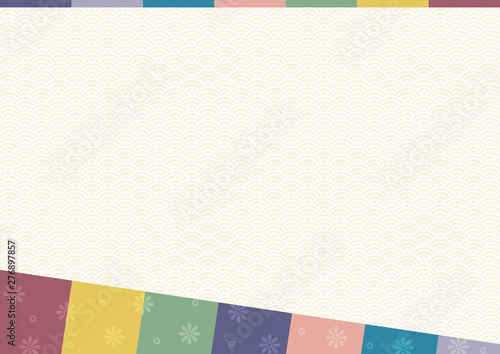 Photo  Abstract background with oriental ornaments elements