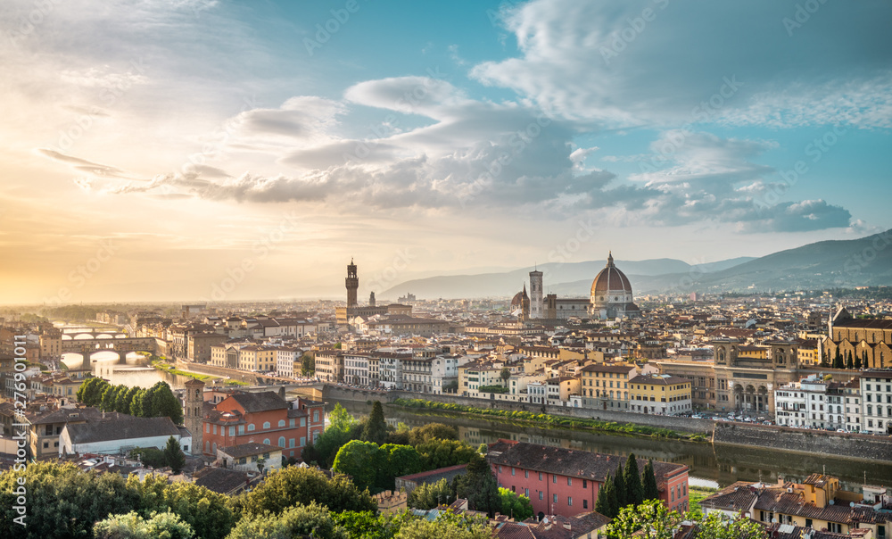 Fototapety, obrazy: Florence - Italy, panorama of Firenze