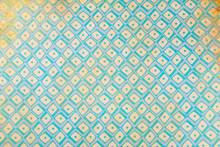 Ressource Graphique Vintage Style Grunge Dans Les Tons Jaune Et Bleu - Motif Géométrique