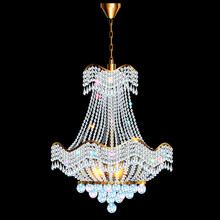 Illustration Of A Chandelier With Crystal Pendants On The Black