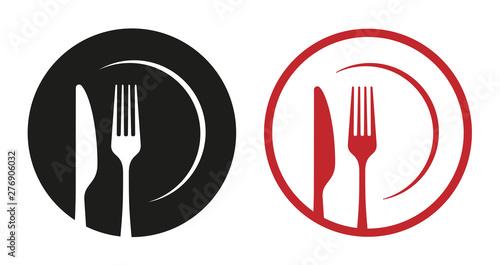 Fotografia red restaurant icons