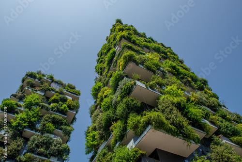 Autocollant pour porte Milan vertical wood