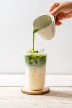 Iced Matcha Latte Green Tea