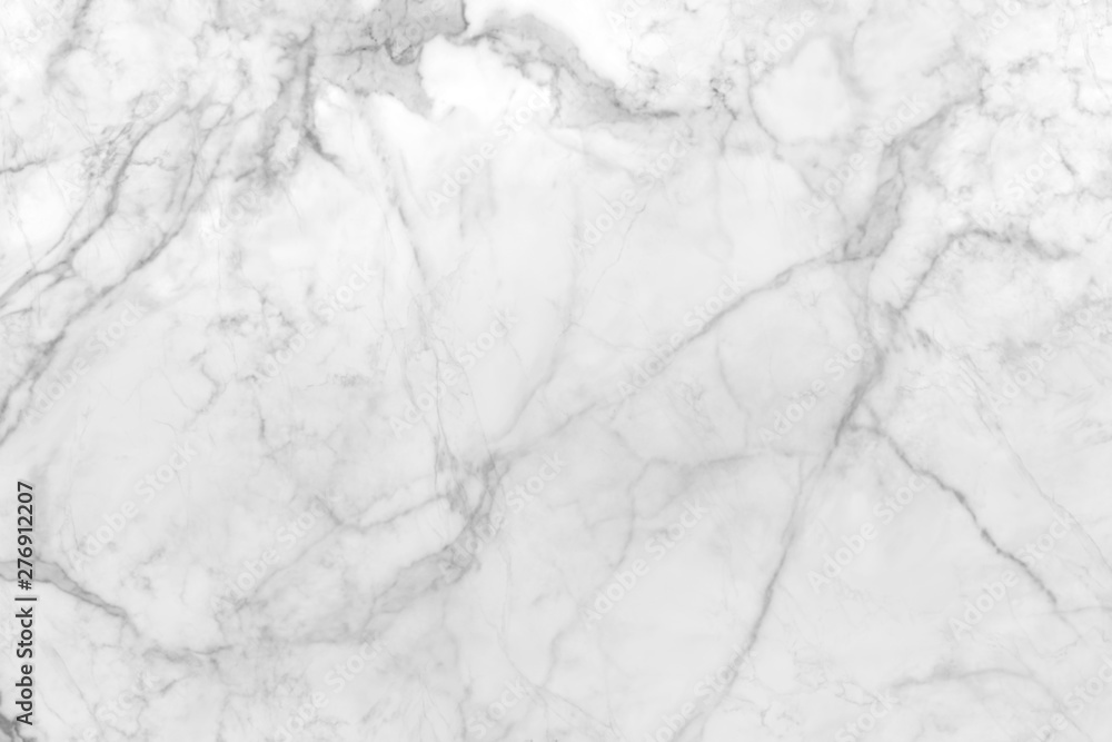 Fototapety, obrazy: smooth flat marble rock surface patterned  with white and streaks of gray
