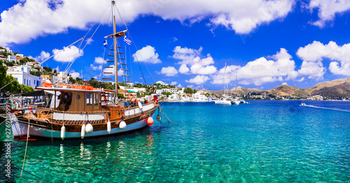 Authentic traditional Greek islands- unspoiled beautiful Leros island, Dodekanese