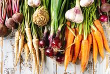 Variety Of Root Garden Vegetab...