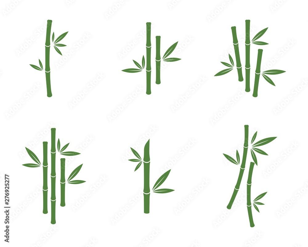 Bamboo vector icon illustration