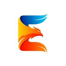 Eagle Logo Formed Letter E