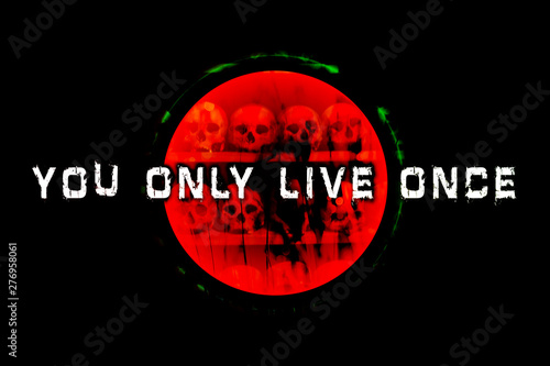 Text you only live only quote background quote wallpaper prints Fototapet
