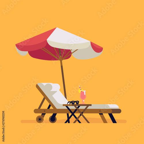 Tableau sur Toile Summer beach design element