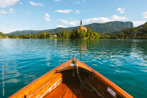 Summer Rowboat on Lake Bled