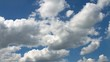 Timelapse Clouds on sky in summer time