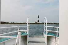 Fire Island Lighthouse, New York Seen From A Water Taxi