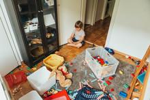Indoor Portrait Of A Child Pla...