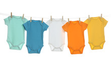 Colorful Baby Onesies Hanging ...