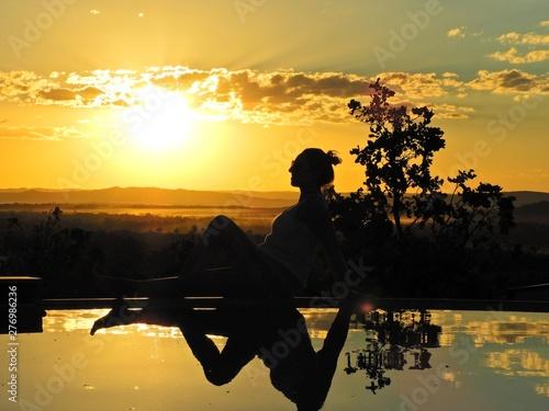 Fotografija  Sunset view of Bom Jardim Village, Nobres, Mato Grosso, Brazil