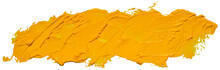 Long Hand Drawn Isolated Oil Paintbrush Stripe With Dirty Yellow Color, Eps 10 Vector Illustration