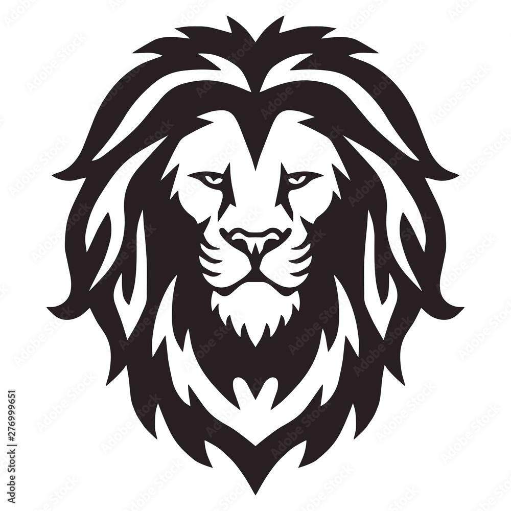 Fototapeta Lion Head Logo Vector Template Illustration Design Mascot
