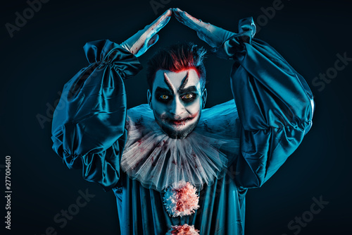 Ingelijste posters Halloween terrifying clown man
