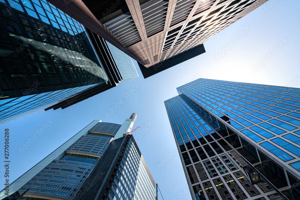 Fototapety, obrazy: Skyscrapers in Frankfurt
